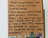 Impossible Things - Lewis Carrol Quote Card