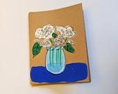 Hydrangeas in a Mason Jar Card