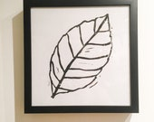 Framed Lemon Leaf Print