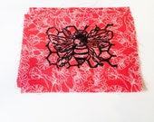 Honey Bee Block Print Patch