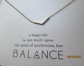 Balance Pyramid Gold Style Wish Necklace A Happy Life Is Built Upon Balance