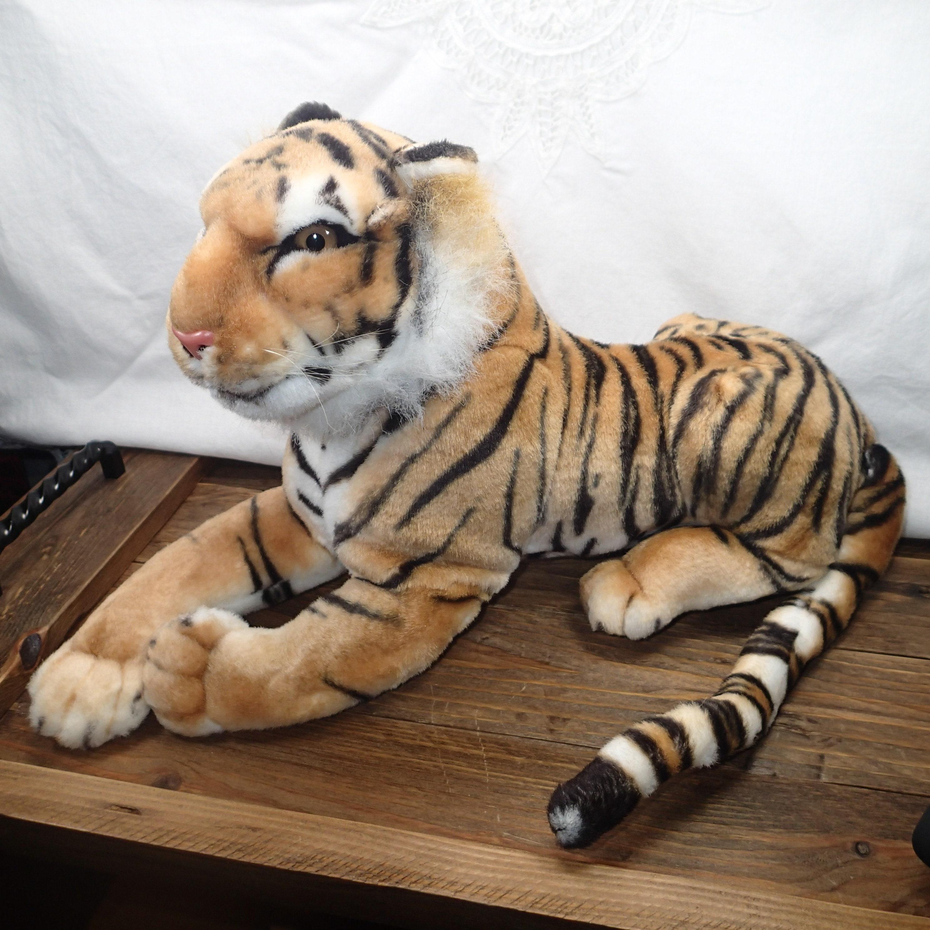Vintage Large Tiger Plush Plush Toy Tiger Stuffed Animal Etsy