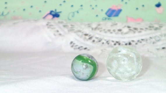 Vintage Marbles Clear Glass Ball Glass Marble Glass Balls Etsy