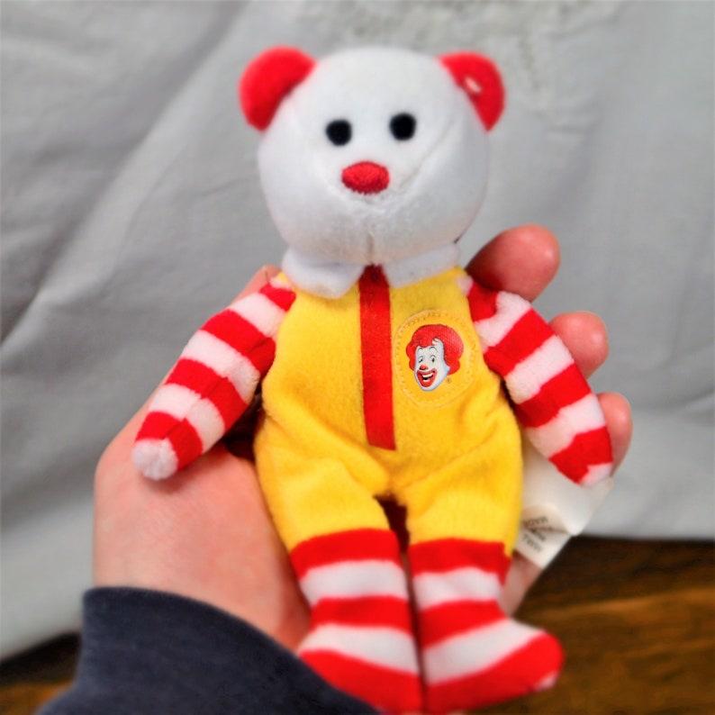 751fe6b0fca Vintage McDonald s Ronald Beanie Toy Ronald TY Beanie