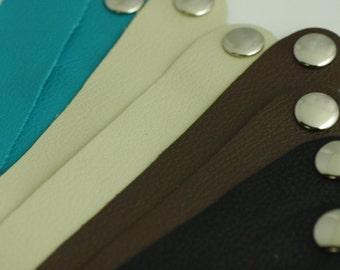 """Wholesale Leather Cuffs-1"""" Inch Wide Genuine Leather Cuff Bracelet - Cuff Wristband -Eight Cuffs"""