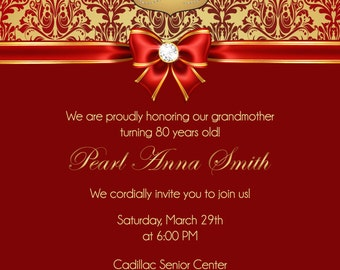 80th Bday Invitation
