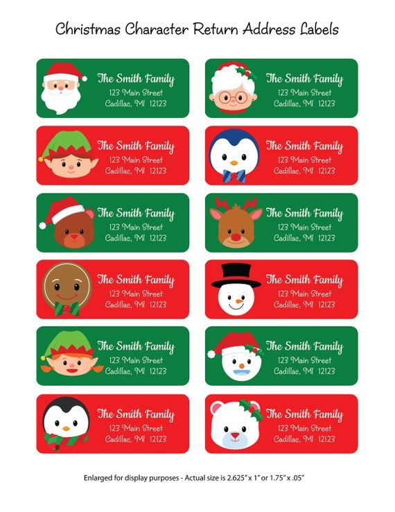 custom return christmas address labels personalized return etsy