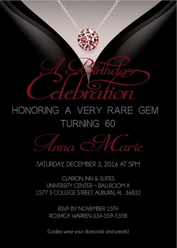 60Th Birthday Invitations Adult Birthday Invitation  Etsy-1087