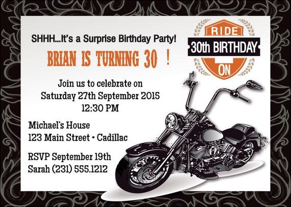 50 Einladung Motorrad Motorrad 50 Geburtstag Einladung Etsy