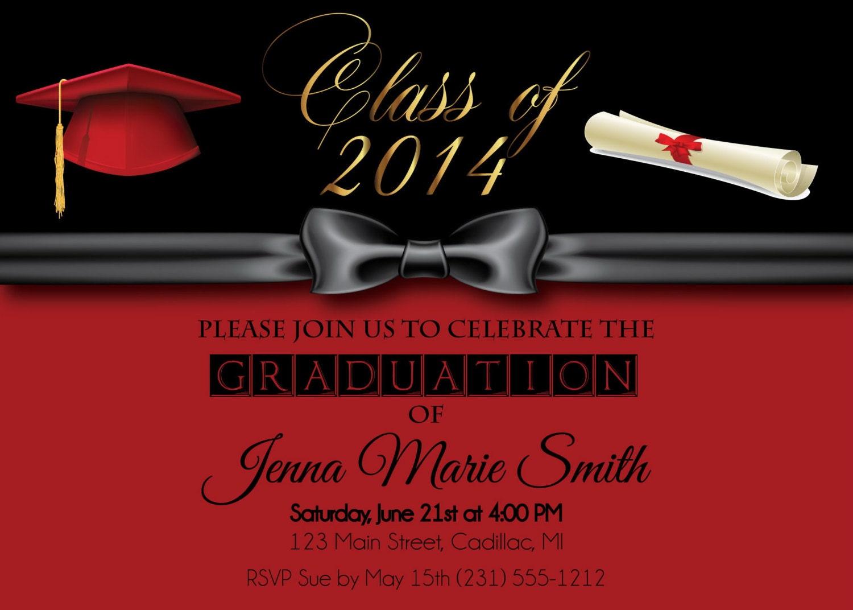 Formal Graduation Invitation Girl\'s Graduation Party | Etsy