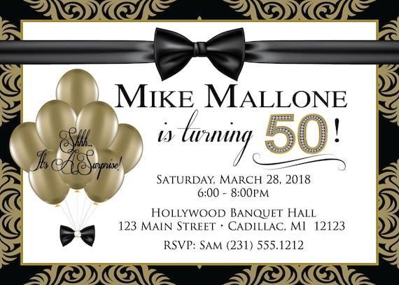 elegant gold men s birthday invitation mens birthday invitations