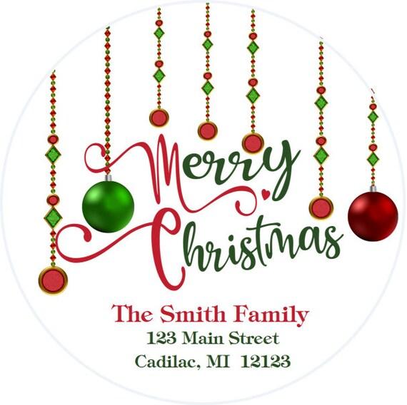 Christmas Return Address Labels.Christmas Address Stickers Christmas Return Address Label