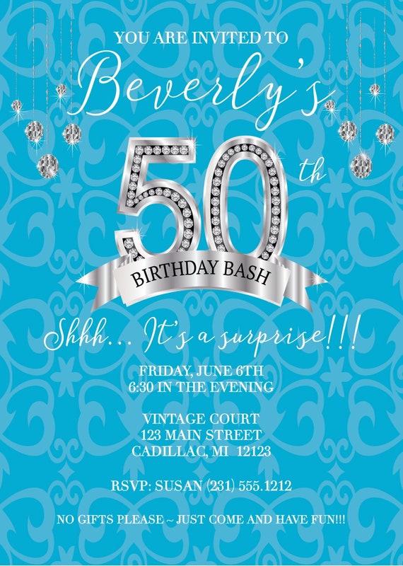 Adult Birthday Invitation Womens Party