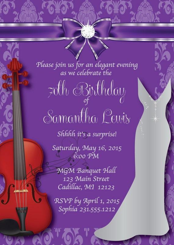 70th Birthday Invitation Women's Elegant Birthday   Etsy