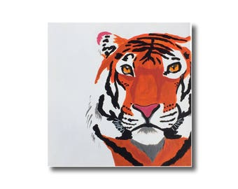 Sumatran tiger acrylic painting in a black floating frame 7c5e8361a
