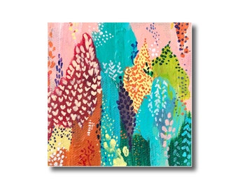 Abstract Florals on Canvas