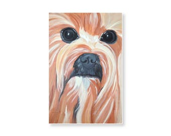Yorkie Painting Pet Portrait Art Print