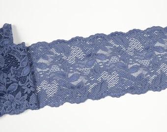 f663dcc428c Bleu dentelle élastique 1676. LaceElements. en Pologne