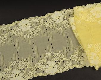 b93d2df0c99d9 Dentelle élastique jaune dans les fleurs 1699