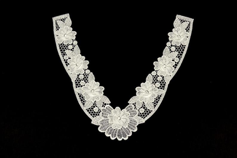 neckline 2949. Creamy collar application