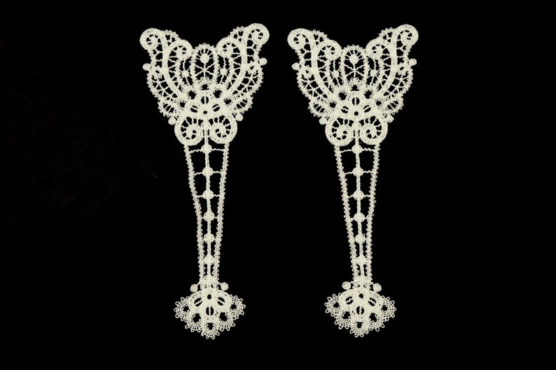 Guipure appliques cream patches decorative appliques clothing patches wedding accessories 3197.