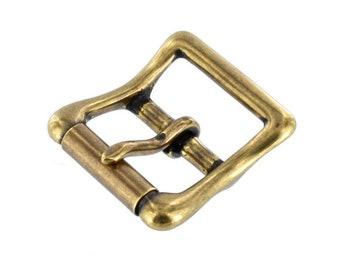 "B6226 1"" Antique Brass, Roller Buckle, Solid Brass-LL"