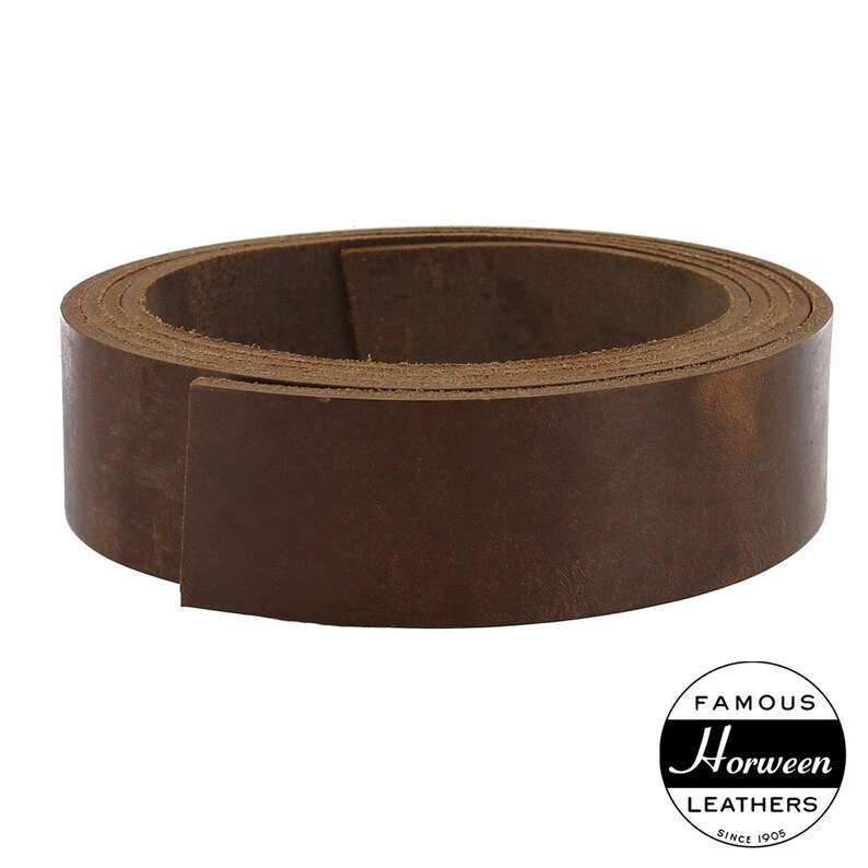 Horween Chromexcel Leather Strap Natural 89oz 55 to 60 Long 1