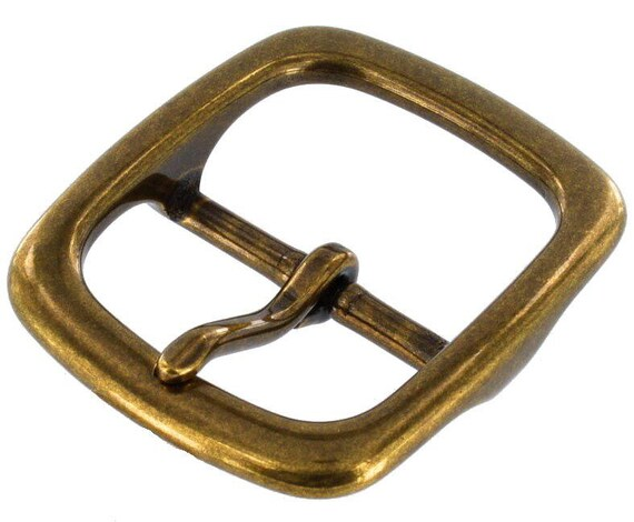 Bridle Center Bar Buckle for 1 inch  or 24 mm wide leather antique  brass Plated