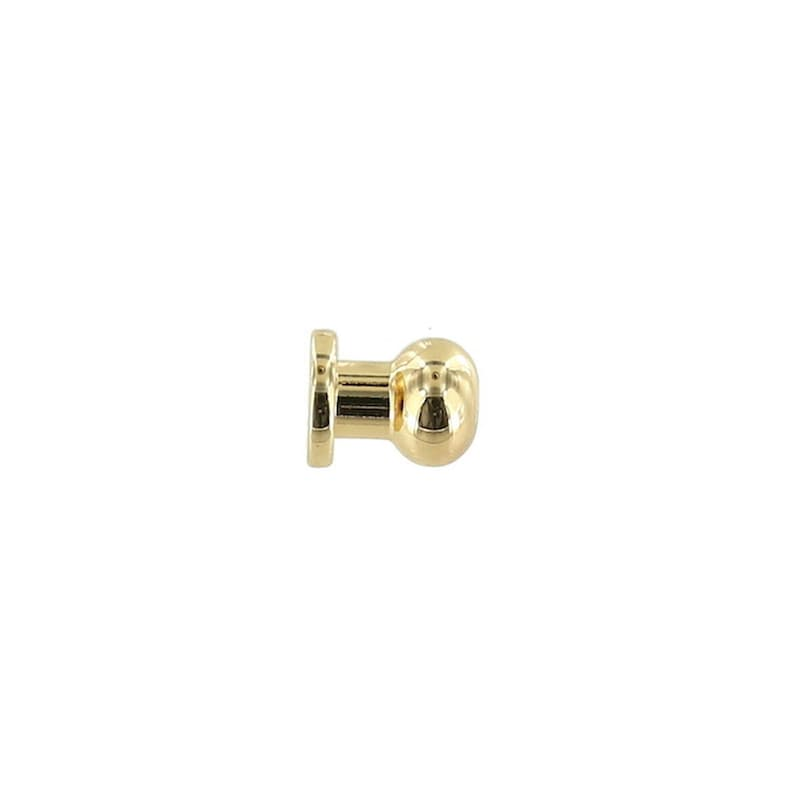 Solid Brass-LL ***Requires the back post B-1414 sold separately*** Collar Button B1018 Gold Plate