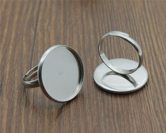 glass jewellery making craft UK 10 18x25mm cabochon bezel ring settings