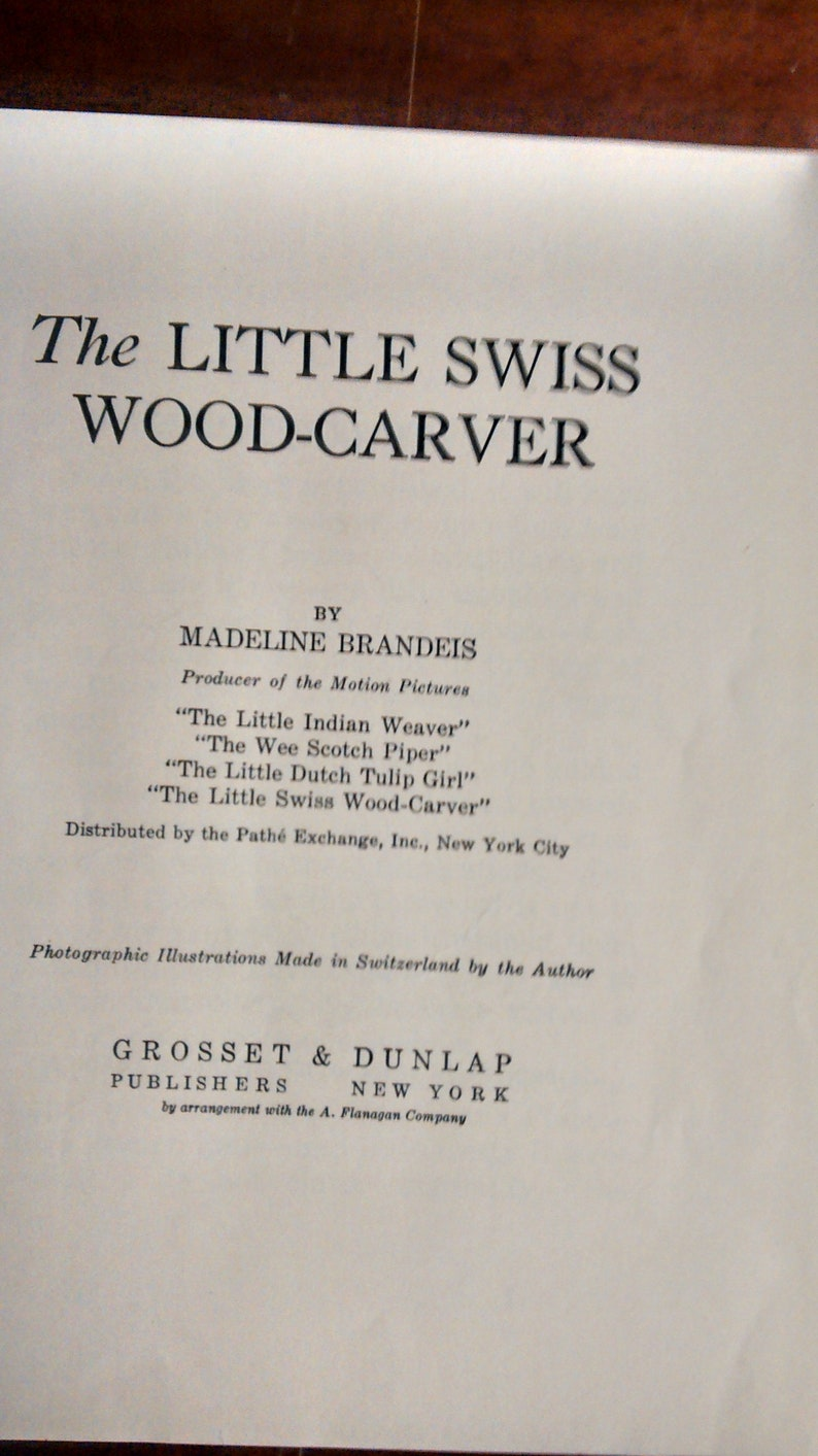 The Little Swiss Wood-Carver by Madeline Brandeis