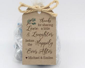 Rehearsal Dinner favor kit | Love Laughter Happily Ever After Wedding Favor Kits,  DIY Favor Kits, Wedding Favor Idea-Choice of 3 tag colors