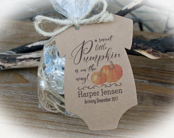 Little Pumpkin Baby Shower Favor | Fall Baby Shower Favor-Tags only OR DIY Bags/ Tags w/twine- Baby Shower-lil Pumpkin Baby
