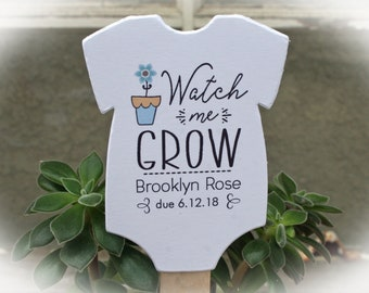Watch Me Grow favor tags or Kits |  -Tags ONLY or kits with sticks (NO plants included) |  Succulent Baby shower Favor tags-OFTwmg5