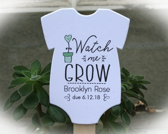 Watch Me Grow favor tags or Kits |  -Tags ONLY or kits with sticks (NO plants included) |  Succulent Baby shower Favor tags-OFTwmg8