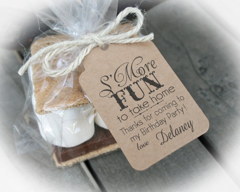 SMores Birthday Party Favor Kits 3 TAG COLORS Smores
