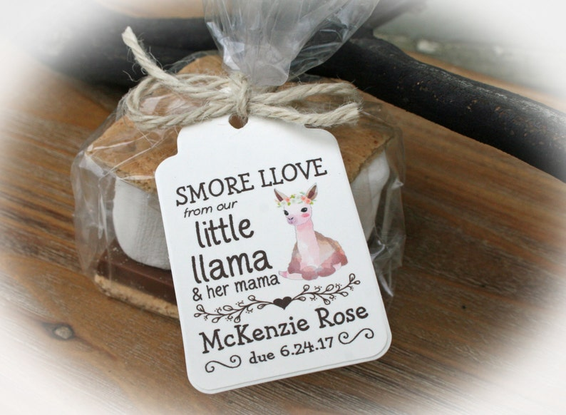 Llama Baby Shower Favors Diy Little Llama Baby Shower Etsy