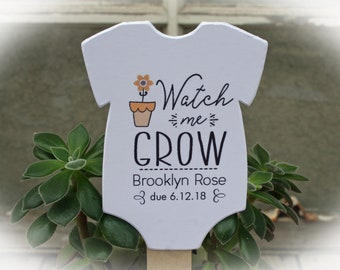 Watch Me Grow favor tags or Kits |  -Tags ONLY or kits with sticks (NO plants included) |  Succulent Baby shower Favor tags-OFTwmg6