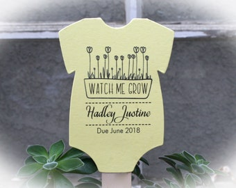 Watch Me Grow favor tags or Kits |  -Tags ONLY or kits with sticks (NO plants included) |  Succulent Baby shower Favor tags-OFTwmg9