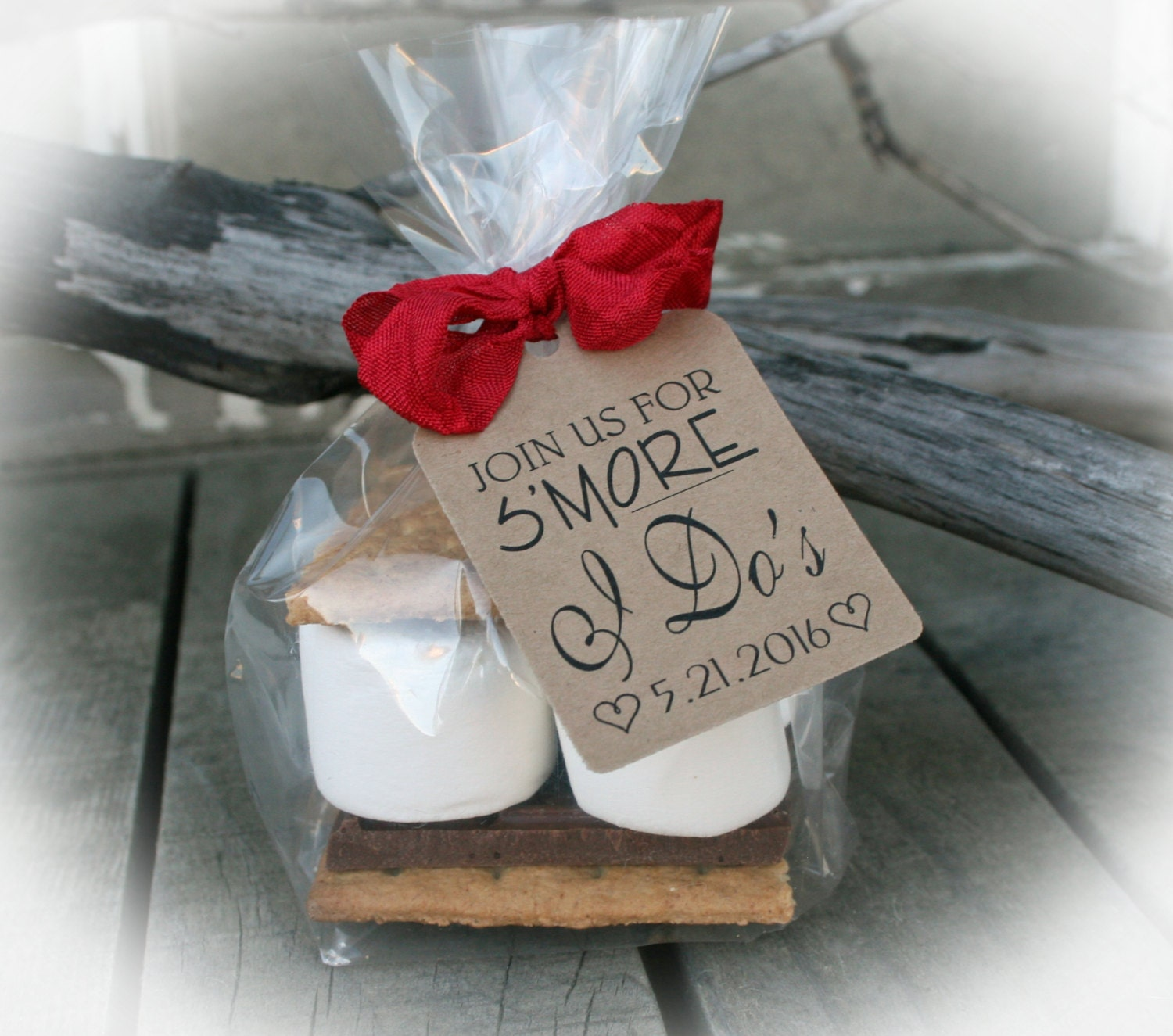 Make Your Own Wedding Favor Ideas: I Do BBQ Bridal Shower Favors DIY Bags/Favor Tags W/Ribbon