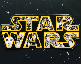"Star Wars ""A Long Time Ago in a Galaxy Far, Far Away"" Vinyl Sticker | Car, Laptop, Water Bottle, Tumbler Vinyl Sticker | 3"" or 5"" options"