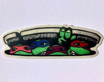 2Ninja-Turtle-Smoking Vinyl Sticker