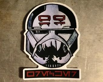 "The Bad Batch ""Wrecker"" Clone Force 99 Star Wars Sticker | Laptop, Water Bottle, Tumbler Vinyl Sticker"