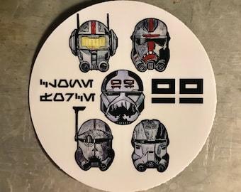 "The Bad Batch ""Clone Force 99"" Star Wars Sticker | Laptop, Water Bottle, Tumbler Vinyl Sticker"