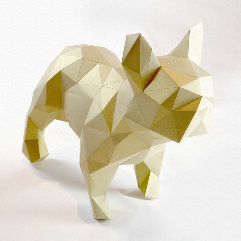 Dogo  DIY folding kit for a beautiful geometric low poly image 0