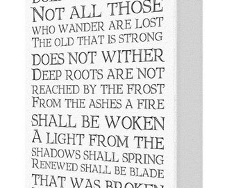 All That Is Gold Does Not Glitter Lord Or The Rings Canvas Print
