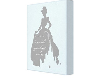 A Dream is a Wish Your Heart Makes,  Cinderella, Disney Princess Canvas