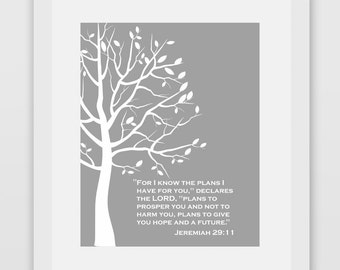 For I Know The Plans I Have For You Jeremiah 29:11 Bible Verse Print