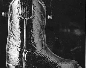 587c947b4d0 LOPK-075A- 3D Cowboy Boot Chocolate Mold (Part 1 of 2 to make 3D Mold)