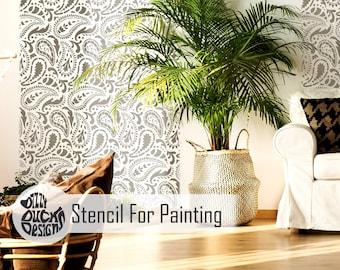 TAJ MAHAL STENCIL - Indian Furniture Craft Wall Stencil Paisley Stencil for  Painting - TAJM01 388e4be075